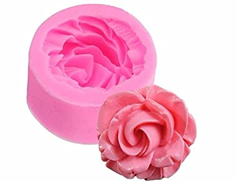 3D Rose Flower Fondant Silicone Mold Baking Cake Cookies Form Chocolate Soap Sugar Craft