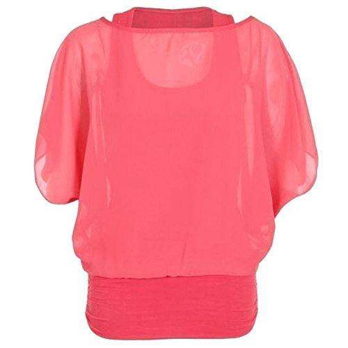 Basic amp;ayat Donna Fashions Coral Momo Camicia tgw7xqq