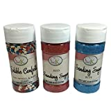 CK Products Patriotic Bundle - Red, White, and Blue Stars decorating Sprinkles, Red and Blue Sanding Sugars