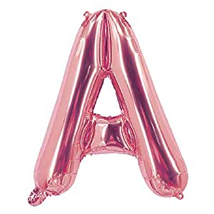 Party Time A Letter Foil Balloon, Rose Gold