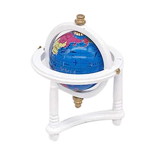 (Livoty Mini Dollhouse Furniture Accessory Globe Miniature Living Room Kids Pretend Play Toy)