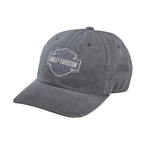 Harley-Davidson Official Men's Frayed Tonal Logo Cap, Grey