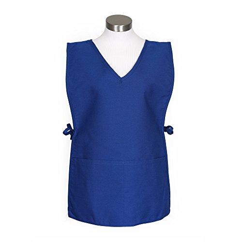 Fame Square Bottom V-neck Cobbler Apron - O/S - Royal Blue by Fame