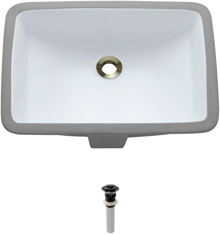 U1913-White Undermount Porcelain Bathroom Sink Max 66% OFF Ensemble unisex Antique