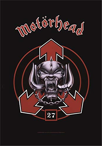 Bioworld Motorhead - 27 Textile Flag Black 75x110cm