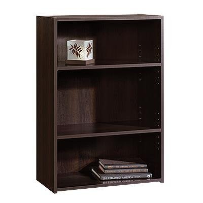 042666133456 - Sauder Beginnings 3-Shelf Bookcase in Cinnamon Cherry carousel main 0