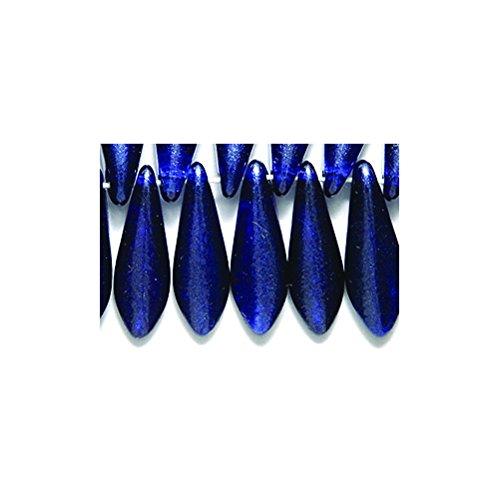 - Preciosa 92DP979-T Traditional Navy Satin Drops, 5 x 16mm