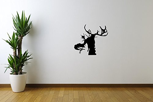 Silhouette Monster with Horns Dead Horror Vinyl Wall