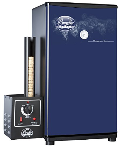 Bradley Technologies Designer Series 4 Rack Original Smoker Stove, Blue