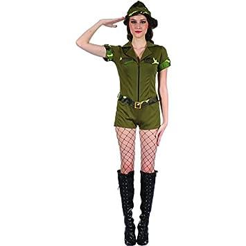 Disfraz militar mujer - Única: Amazon.es: Juguetes y juegos