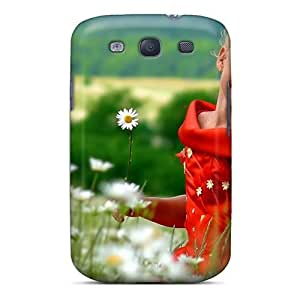 Anti-scratch And Shatterproof Summer Flowers Queen Phone Case For Galaxy S3/ High Quality PC Case