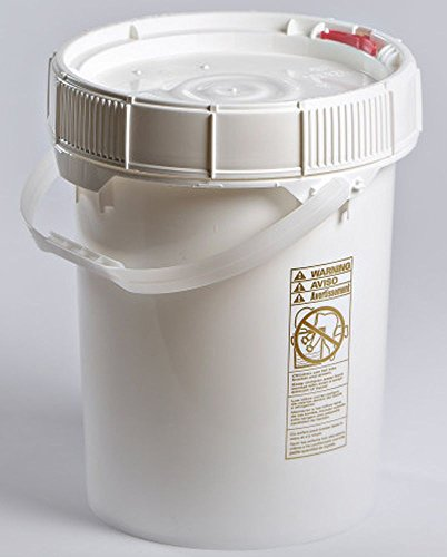 3.5 Gallon Life Latch Screw Top With White Lid and