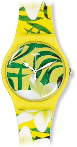 Swatch Limbo Dance Yellow/Green Dial Plastic Rubber Quartz Ladies Watch ()