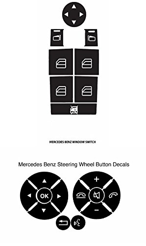 Window and Steering Wheel Button Repair Kit For Mercedes Benz 2008-2014 W204 C250 C300 C350 E Class ML Class GL Class GLK And More Easily Fix Your Ugly Faded Buttons Fast Low Cost (Window Button)