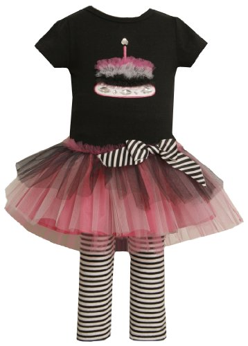 Bonnie Jean Little Girls' Knit Bodice with Cake to Tulle Skirt and Knit Capri