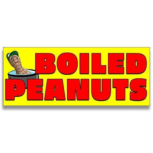 - Boiled Peanuts Vinyl Banner 5 Feet Wide by 2 Feet Tall