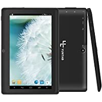 Yuntab 7 inch Android Tablet, Dual Core, 512MB+4GB Storage, Allwinner A23 Android 4.4 OS, Dual Cameras, 5 Point Capacitive Touch Screen (Black)