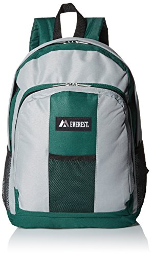 everest-luggage-backpack-with-front-and-side-pockets-green-gray-large