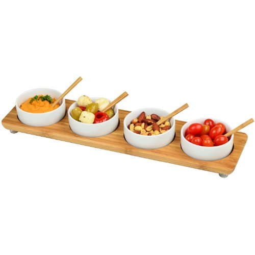 Picnic at Ascot Four Bowl in Line Serving Platter ()