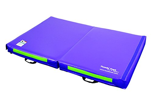 Tumbl Trak Junior Practice Mat Purple And Lime Green 4 Ft X 6 Ft X 6 In Buy Online In Uae