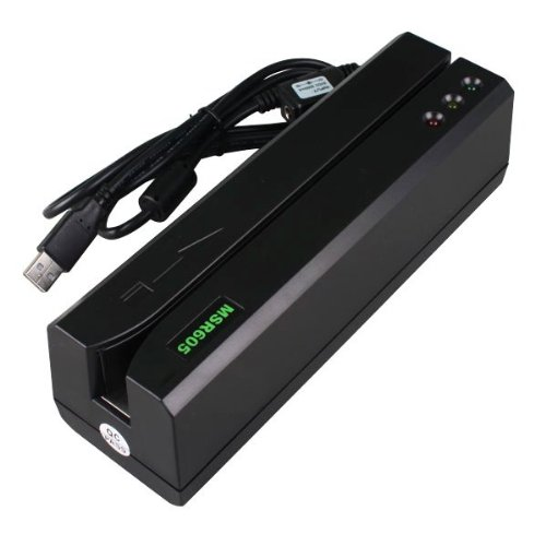(MSR605 & 206 Magnetic Card Reader & Program Software for Windows 98/Me/XP/Vista/Windows7 & 3-track version can read/write all three tracks data, 300-4000 oe & Support USB Communication) MSR605 Magnetic Card Reader Writer Encoder Stripe Swipe Credit Magstripe MSR206