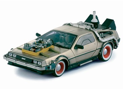 1/18 Diecast Delorean Time Machine From ''Back to the Future 3'' Movie by Sunstar