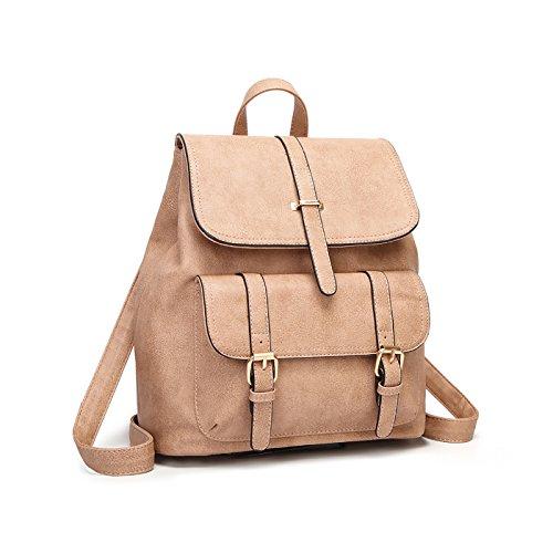 Tisdaini Nuevo Mujer mochilas Moda viaje mochila casual bolso bandolera escolar Dama bolsa Caqui