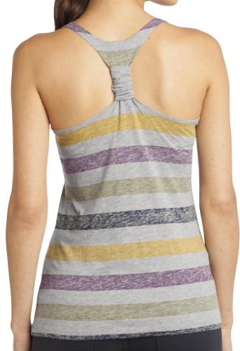Yoga Clothing For You Juniors Scrunch Tank Top, Large Harvest Stripe