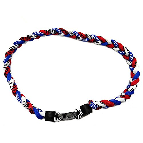 Magnetic Necklace Baseball - S'beauty 3 Rope Tornado Titanium Sport Necklace 20