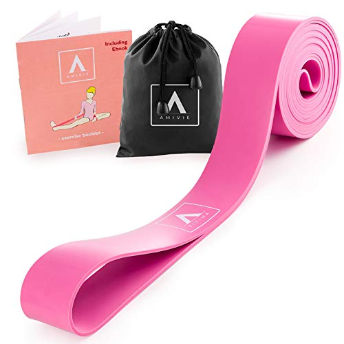 Amivie Premium Ballet Stretch Band for Kids & Adults | Flexibility Improving Stretching Band for Dance, Gymnastics, Pilates + eBook & Exercise Booklet by Amivie