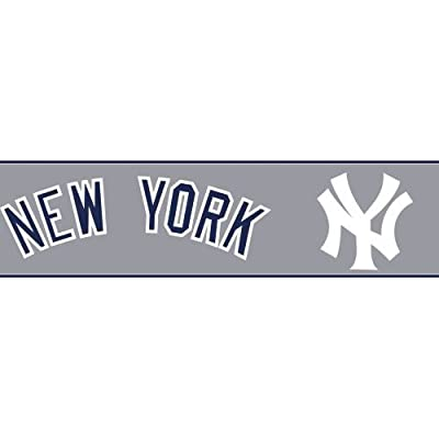 York Wallcoverings New York Yankees Prepasted Border
