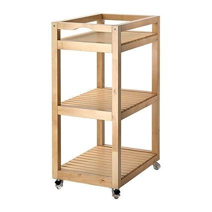 IKEA MOLGER - carrito, abedul