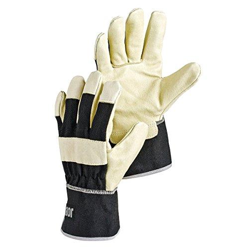 Hestra Heavy Duty Work Gloves: Krypton Utility Gloves, Black/Natural, 9
