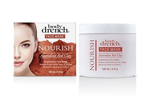 Body Drench Nourish Australian Red Clay Brightening Face Mas