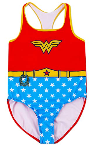 Dreamwave Girls' Wonderwoman One Piece Swimsuit 10/12]()