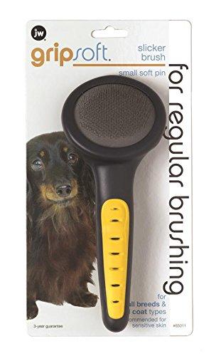 JW Pet Company GripSoft Slicker Soft Pin Dog Brush, Small (Yorkie Brush compare prices)