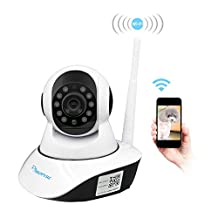 Wireless Security Camera,Amorvue 720p HD WiFi Security Surveillance IP Camera Home Monitor with Motion Detection Two-Way Audio Night Vision,White