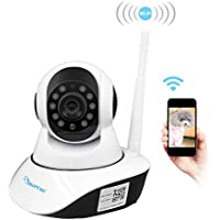Wireless Security Camera, Amorvue 720p HD WiFi Security Surveillance IP Camera Home Monitor with Motion Detection Two-Way Audio Night Vision,White