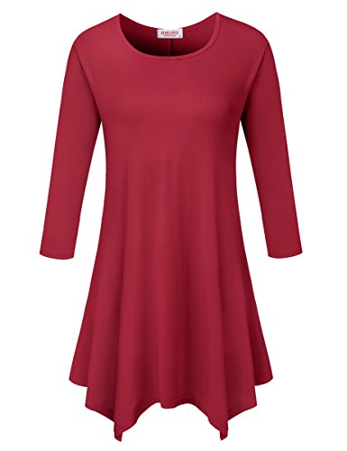 Red 3/4 Sleeve Top - 8