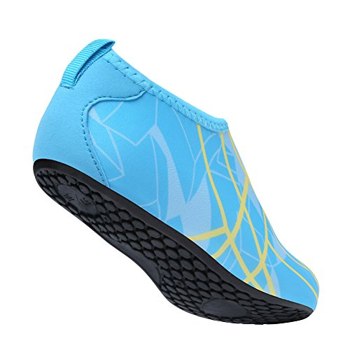 Unisex L Shoes Skin Run Shoes Beach For RUN Water Barefoot blue Swim Dive Yoga Surf Line BW151rgqw