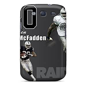 Galaxy S3 Case Cover - Slim Fit Tpu Protector Shock Absorbent Case (oakland Raiders)