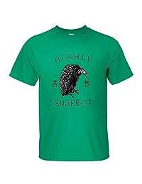 Fashionshop Funny Cotton Shirts Short Sleeve Men's Green Cotton Digital Printing Highly Suspect T Shirt