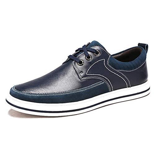 Cordones HhGold 5 Redonda de para para Cabeza Cuero 6 Ocasionales 9 5 Hombres Mocasines 7 de Negro Hombres Zapatos UK Color Negro tamaño Color Tamaño UK Marrón con Claro cómodos US US 8 wrIPqrC