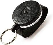 Key-BAK 0481-819 No.481B-LK Retractable Reel with 48-Inch Kevlar Cord, 2.25-Inch/5.7cm Leather Belt Loop, 8-Ou