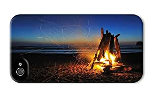 Hipster good iPhone 4S case beach campfire night PC 3D for Apple iPhone 4/4S
