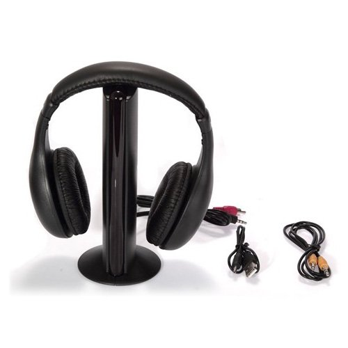 SODIAL(TM) 5-en-1 Hi-Fi Auriculares inalambricos para HDTV, TV, VCD, PC, MP3, MP4, CD, DVD / Radio FM: Amazon.es: Electrónica