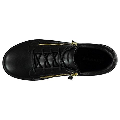 Firetrap Rapture Lo décontracté Baskets pour homme BLK/GLD Baskets mode Sneakers Chaussures