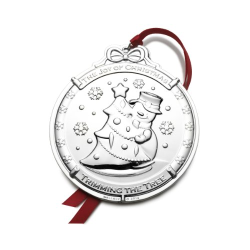 Wallace Silver-Plated Snowman Ornament, 3rd Edition Wallace Silver Plated