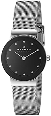 Skagen Women's Ancher Quartz Stainless Steel Mesh Casual Watch, Color: Silver-Tone (Model: 358SSSBD) from Skagen