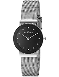 Skagen Women's 358SSSBD Steel Collection Black Glitz Dial Watch